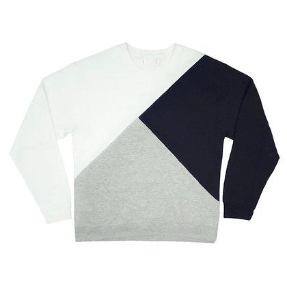 Tri Block Sweatshirt in Large