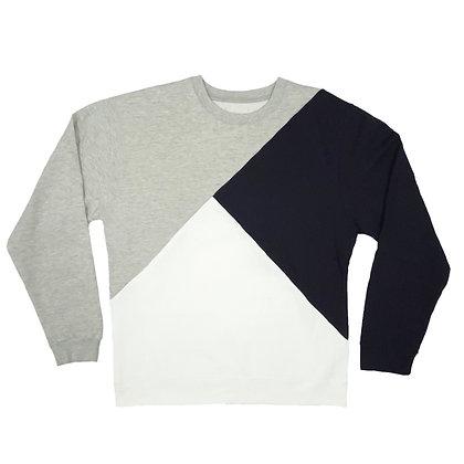 Tri Block Sweatshirt in X-Large