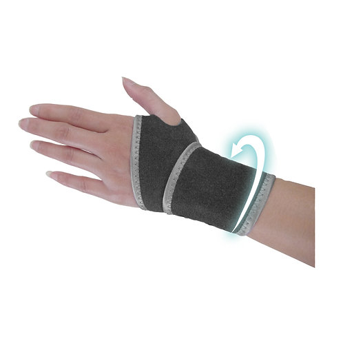 WELL-DAY Far Infrared Hand Wrist Compression Support, Silver