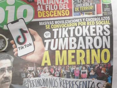 Diario Ojo destacó investigación de Pandemia.me sobre participación de tiktokers durante protestas
