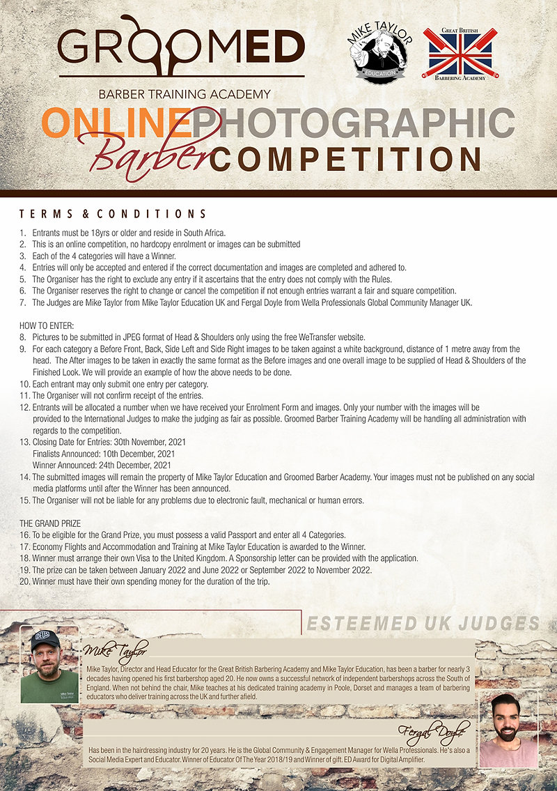Digital Poster Barber Competition - T's&