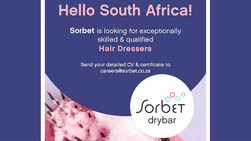 Hair Dressers Required at Sorbet Drybar