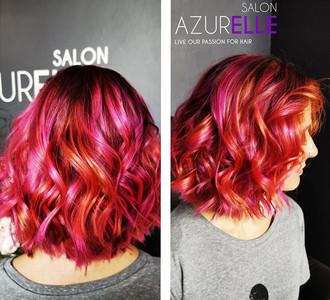 Fiery Creativity from Liza Visagie, Salon Azurelle