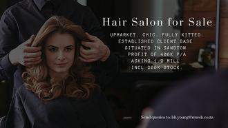 Salon for Sale in Sandton