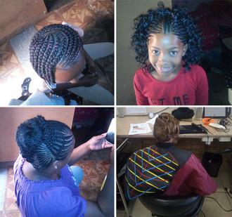 Braids & Colour Inspiration from Keitumetse Mosetlho, Bloemfontein Hair Student