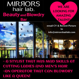 Hairstylists & Operators Needed at Mirrors Hair Lab, Gardens, Cape Town