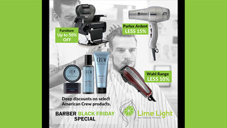 Calling all Barbers: Lime Light's Black Friday Barbering Specials