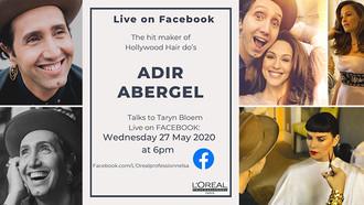 L'Oréal Home Academy Features Adir Abergel, The Hitmaker of Hollywood Hairdos
