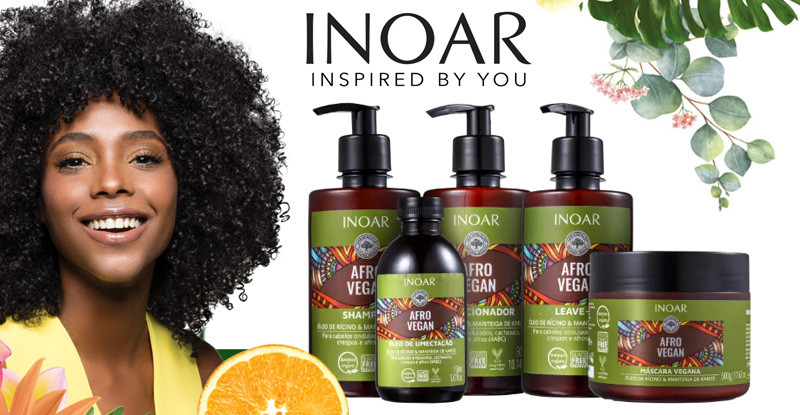 New Inoar Afro Vegan Range Vegan Hair Care Products Developed Specifically With Afro Natural Kink
