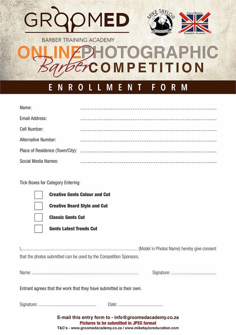 Digital Poster Barber Competition - Entr