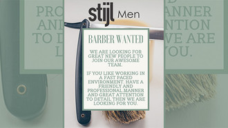 Barbers Required for Stijl Men, Garsfontein