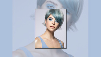 Incorporating Blue into Hair Colour by Steph Peckmore of Bad Apple Hair, UK