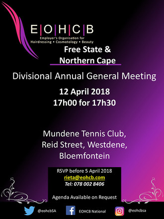 EOHCB Free State/ Northern Cape  AGM