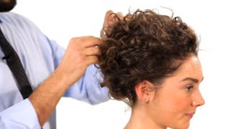 Watch: Curly Hair Upstyle How-To