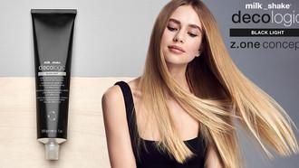 """Milkshake Launches New Decologic """"Black Light"""" Lightener for Cool Blond Shades"""