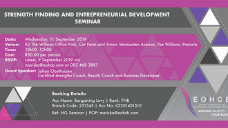 Strength Finding and Entrepreneurial Development Seminar, Pretoria