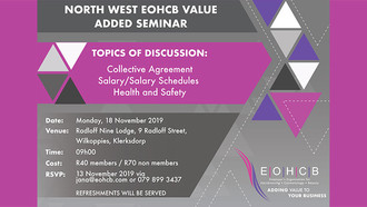 EOHCB Business Seminar Ahead on 18 November in North West