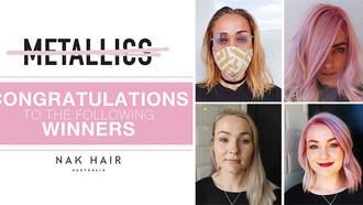 NAK Hair Metallics Insta Competition Winners