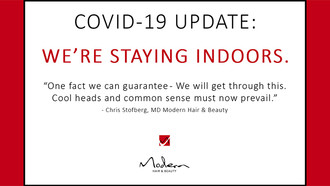 Modern Hair & Beauty's Industry Message for the Covid-19 Lock Down