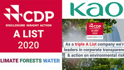 Eco-Friendly Kao is Rated Triple A for Climate Change, Forest and Water by CDP