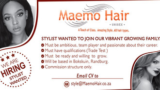 Stylists Required for New Salon in Boskruin, Jhb