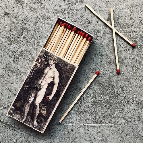 Caja fósforo Adán y Eva