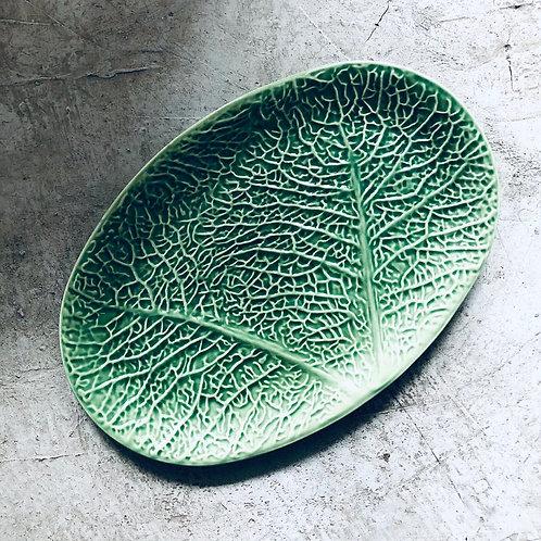 Plato de cerámica ovalado lechuga