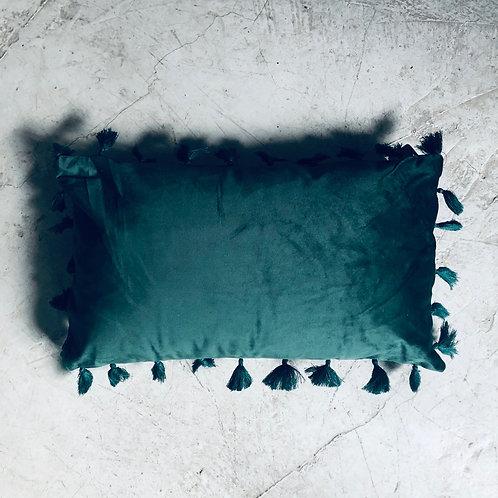 Cojin velvet rectangular verde