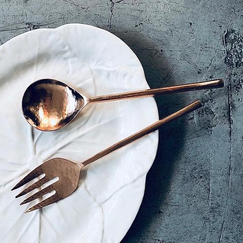 Cubierto ensalada cobre