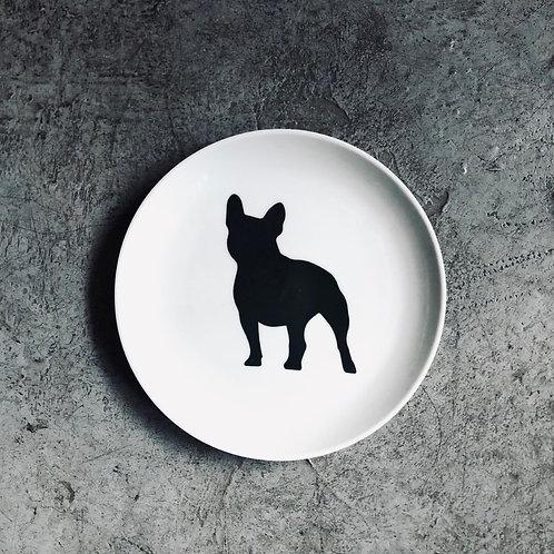 Plato perro bulldog