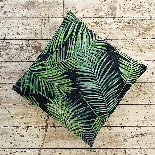 Cojín hojas tropicales