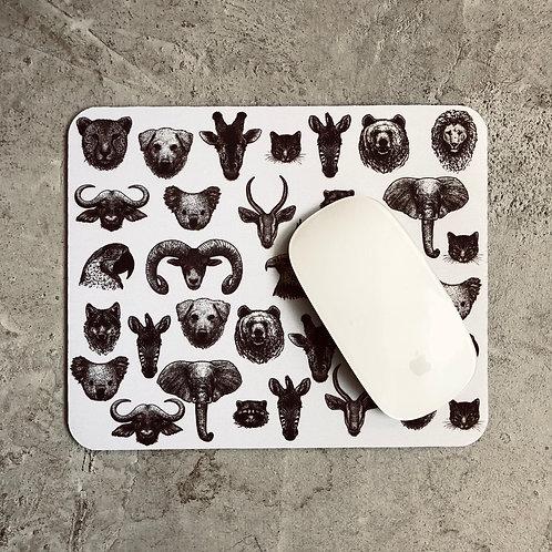 Mouse Pad Cabeza Animales