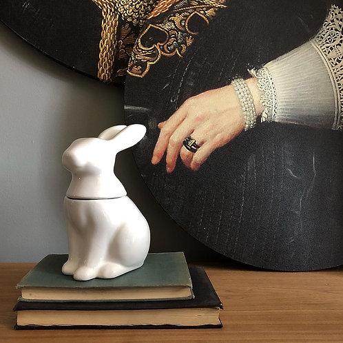 Conejo cerámica con tapa