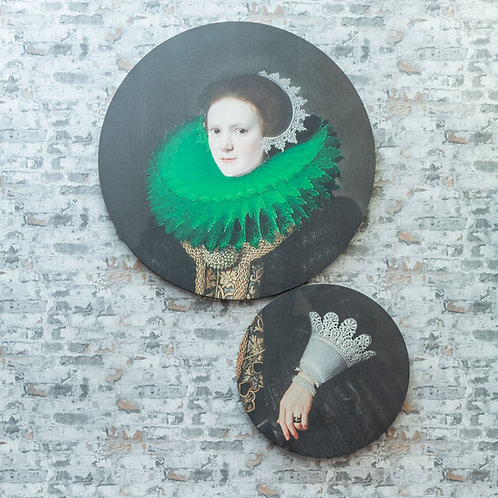 Set canvas mujer en verde