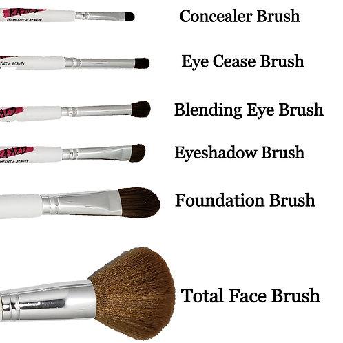 Kaꓘed 6 Piece Vegan Makeup Brushes