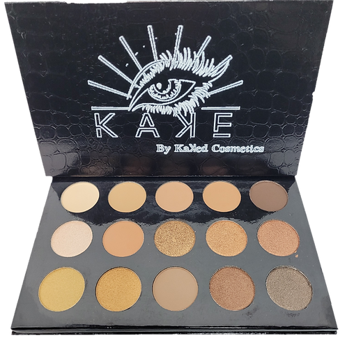 Eye Kaꓘe- 15 Color Nude Palette with Mirror.