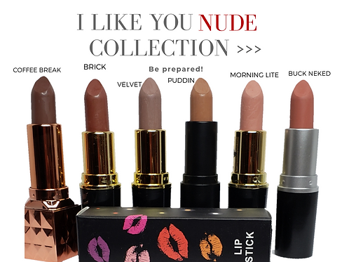 Kaꓘed Lips- I Like You Nude Collection 6-pc