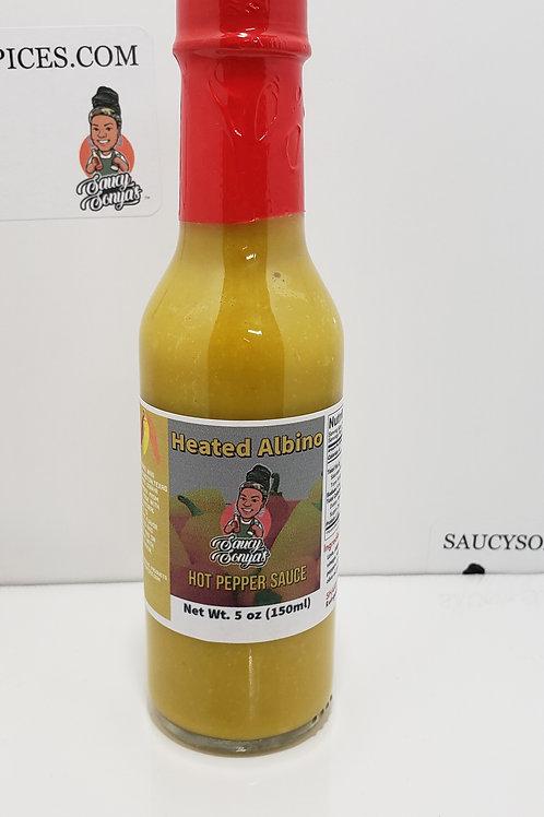 Heated Albino Hot Pepper Sauce 5oz