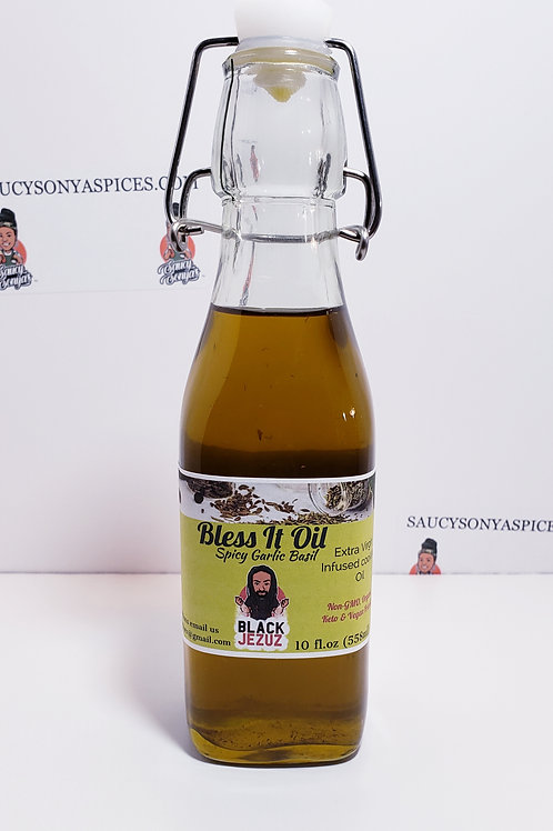 Black Jezuz Bless It Oil infused cooking oil 10 fl.oz