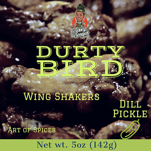Durty Bird wing shakers 5oz bag