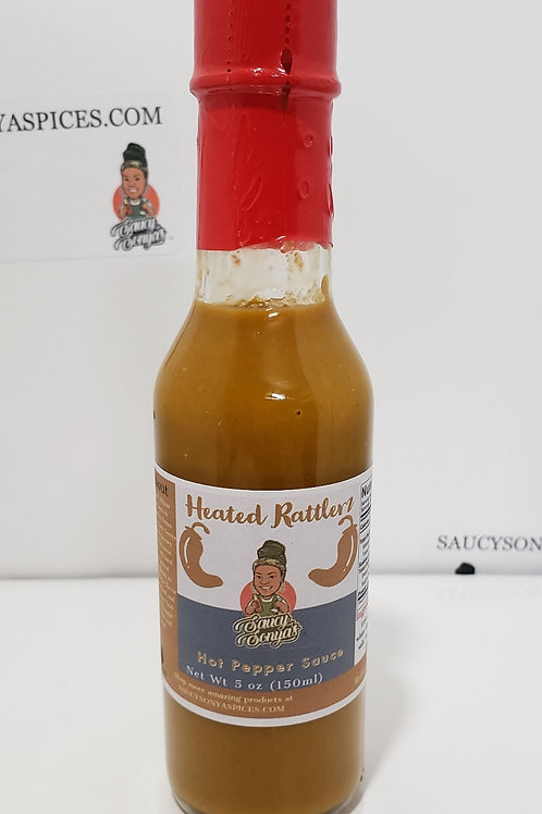 Heated Rattlerz Hot Pepper Sauce 5oz