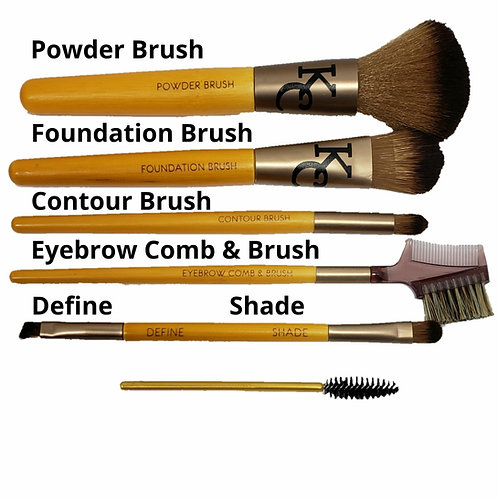 Bamboo Makeup Brushes 6 piece set