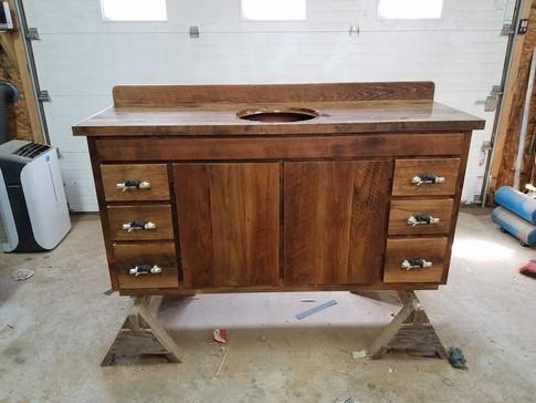 reclaimed Wood Vanity