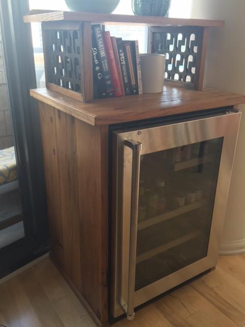 Chestnut Wine Refrigerator Cabinet