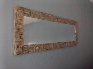 Handhewed Timber Mirror