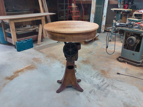 Pub Table With Cream Separator Base