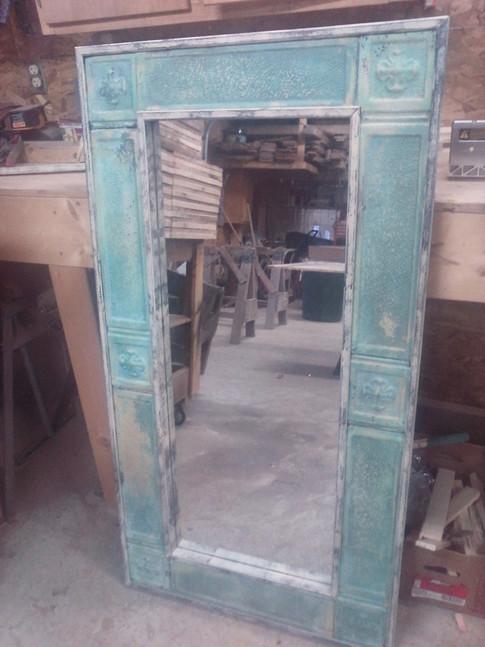 Antique Tin Ceiling Mirror
