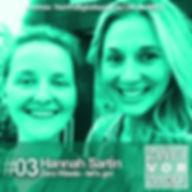 Cover ZWEIvorZWÖLF Folge 03 mit Hannah Sartin