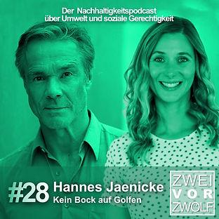 Cover zur Folge 28 ZweivorZwölf Podcast mit Hannes Jaenicke