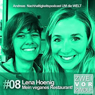 Cover ZweivorZwölf der Folge 08 mit Lena Hoenig